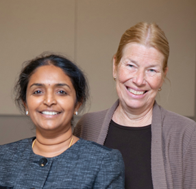 Peoria's Associate Dean for Academic Affairs Meenakshy Aiyer and Regional Dean Sara Rusch